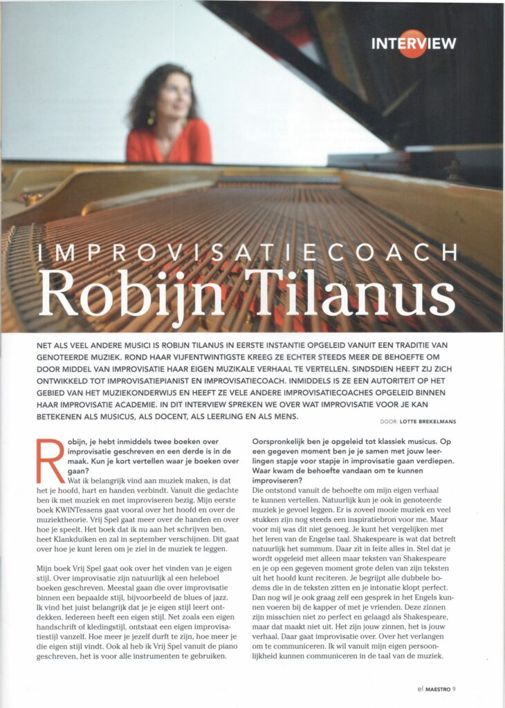 Over Robijn Tilanus interview el Maestro pagina 1